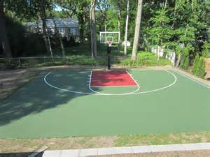 pin basketball court backyard on