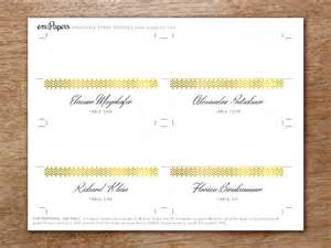 gold place card template place card template glamorous gold