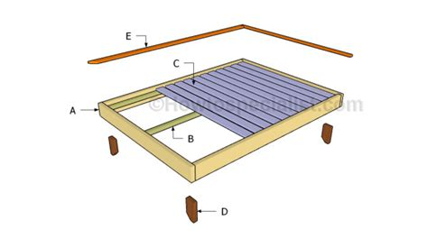 Full Size Platform Bed Plans Howtospecialist How To Build Size Platform Bed Frame