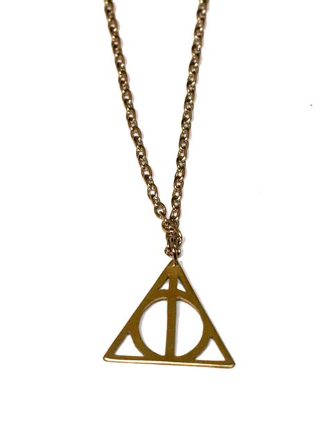 harry potter hogwarts deathly hallows necklace pendent