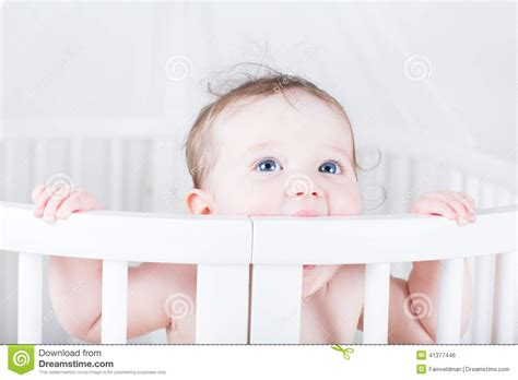 Baby Biting Crib by Baby Biting On A Crib Stock Photo Image 41377446