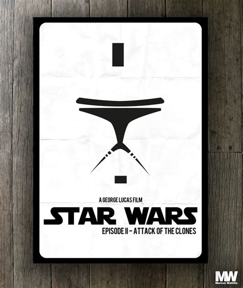 Poster A3 Wars Trooper wars attack of the clones clone trooper jedi