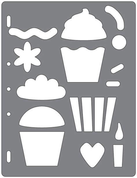 fiskars shape cutter templates fiskars shape template cupcakes and more shapes