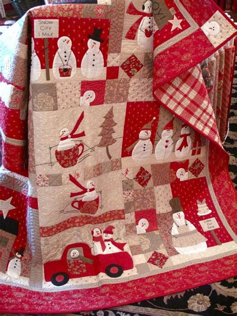 Bunny Hill Quilt Patterns by Merry Merry Snowman Pattern It By Bunny Hill