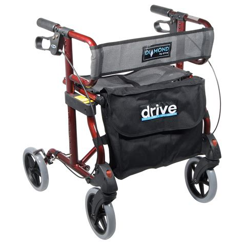 drive walker with seat drive rollator walker with comfortable