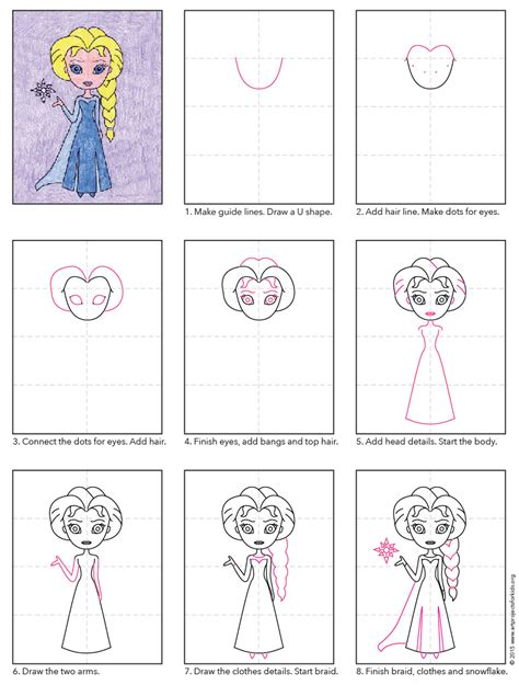 doodle draw how to draw elsa draw elsa projects for