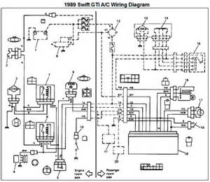 1989 suzuki swift gti air conditioner wiring diagram and