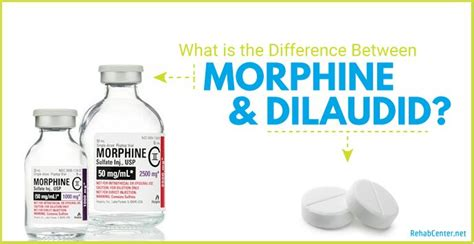 Morphine Sulfate Detox Centers by What Is The Difference Between Morphine And Dilaudid