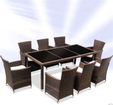 Dining Table And 8 Chairs For Sale Uk Rattan Dining Table Set With 8 Chairs Brown Rattan Furniture Company