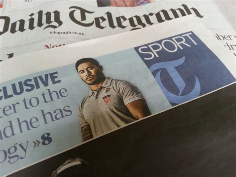 sunday telegraph sports section daily telegraph double page spread paul carroll photography
