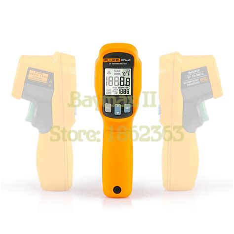 Promo Termometer Infrared Fluke 62 Max fluke 62 max ip54 water dust resistant infrared thermometer 30 500c 20 932f with lcd backlit