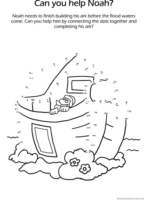 printable activity sheets for sunday school noah the ark dot to dot sunday school worksheet noah