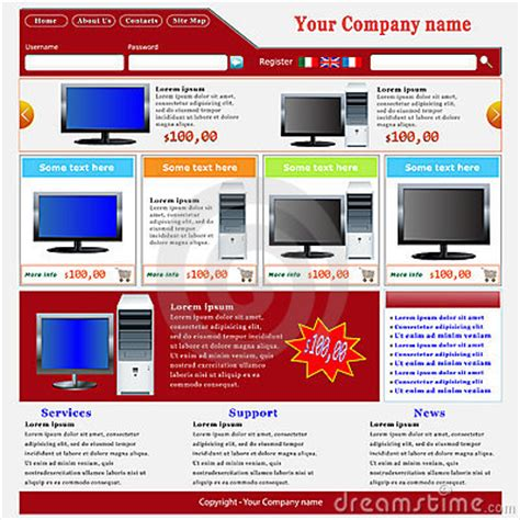 Ecommerce Website Template Royalty Free Stock Photo Image 19278945 Ecommerce P L Template
