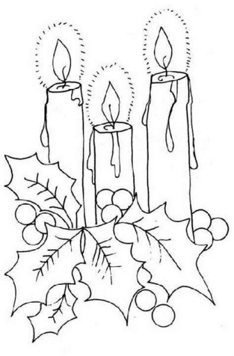 imagenes de navidad para dibujar en tela velas navide 241 as para colorear