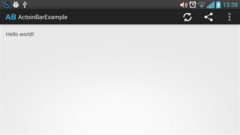 tutorial android processing simple android action bar tutorial with 2 2 compatibility