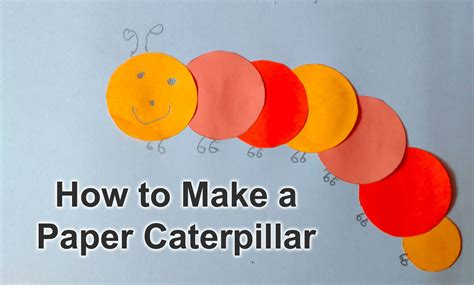How To Make Paper Cut Out - how to make easy paper origami caterpillar