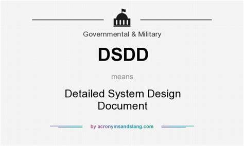 system design definition document dsdd detailed system design document in government