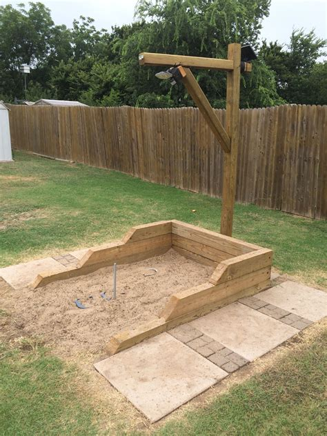 backyard horseshoe pit back yard hand built horse shoe pits with led lights