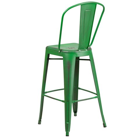 tolix bar stools with back office green weathered high back tolix bar stool large