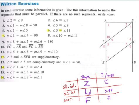 Parallel Line Proofs Worksheet by Geometry Proofs Worksheets With Answers Writing Geometry