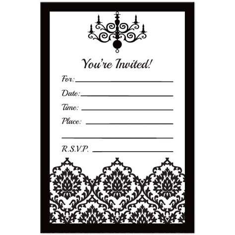 Black And White Birthday Invitation Template Free Birthday Invitation Card Template Black And White