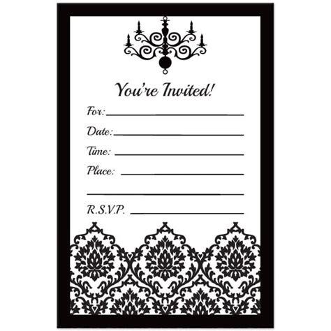 black and white 50th birthday invitations black and white birthday invitation template free