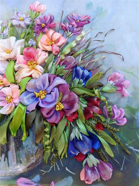 fiori con i nastri oltre 25 fantastiche idee su fiori ricamati su