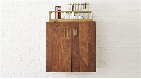 wall cabinets for bar wall mounted bar cabinet reviews cb2