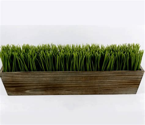 grass box wood planter box 24 quot grass centerpiece