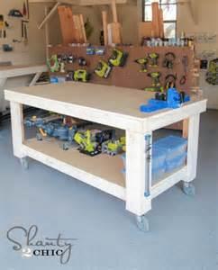 diy garage work bench new year new workbench baby shanty 2 chic