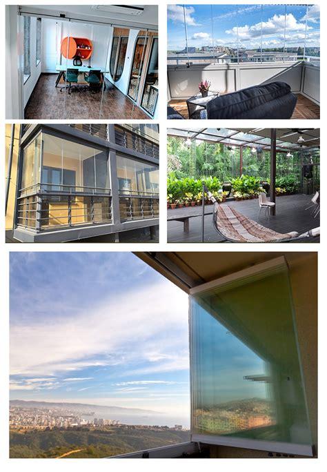 china hot sale  style panoramic frameless sliding