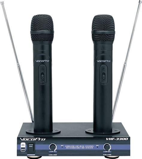 Microphone Werelles Merk Homic vocopro vhf 3300 2 ch vhf recharchable wireless microphone system