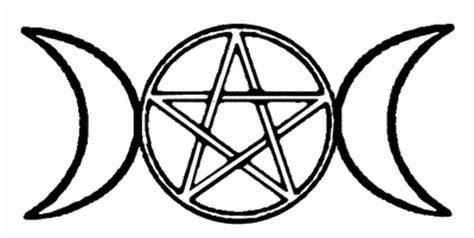 triple moon symbol 2 x 4 cm