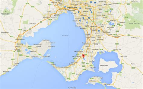 peninsula map refresh and relax on the mornington peninsula budget car rental