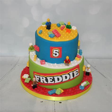 2 tier lego cake