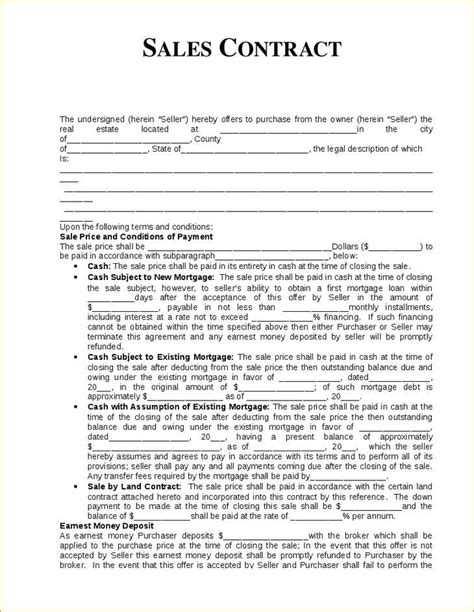 Purchase Sale Agreement Commercial Real Estate Simple Real Estate Sales Contract Template Ni Commercial Real Estate Purchase Contract Template