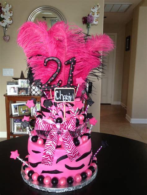 21st Birthday Decorations by Zebra Themed Happy 21st Birthday Cake Zebra Ideas Birthday Cakes 21st