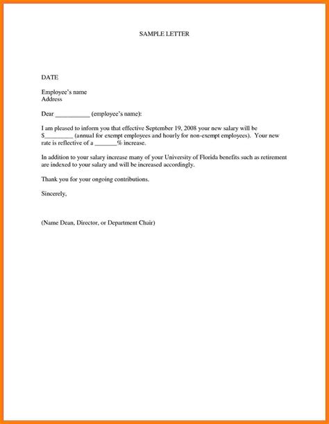 3 salary increase letter from employer sample salary bill format
