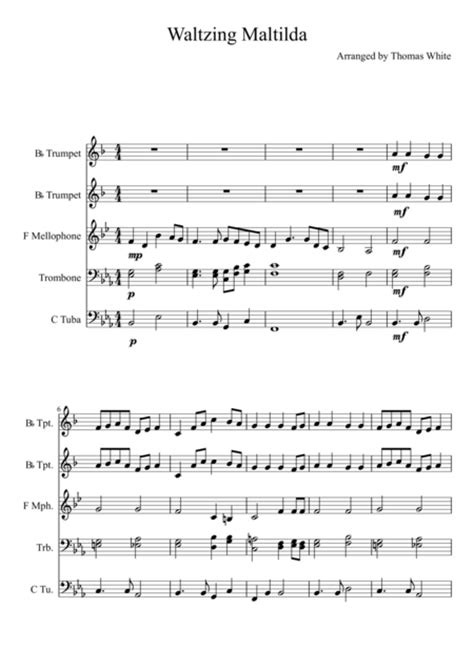 printable lyrics waltzing matilda banjo patterson music sheet music to download and print