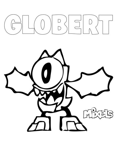 mixels coloring page globert eric s activity pages