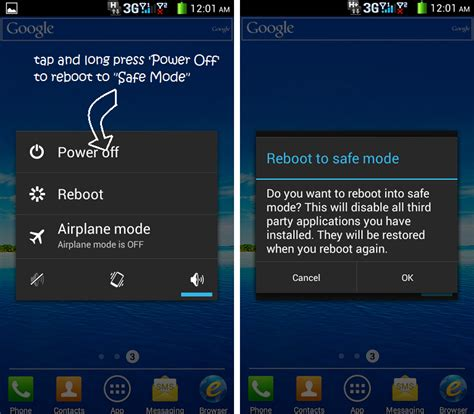 how to reboot android phone how to boot android phone into safe mode