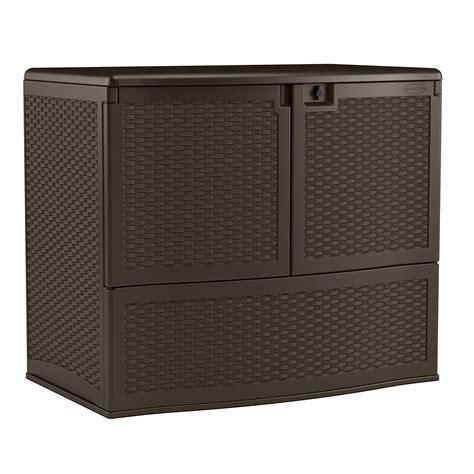 suncast resin storage cabinets suncast suncast 195 gal outdoor patio double door