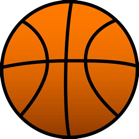 clipart basketball simple orange sports basketball free clip