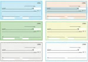 free printable check templates blank check vector pack free vector stock