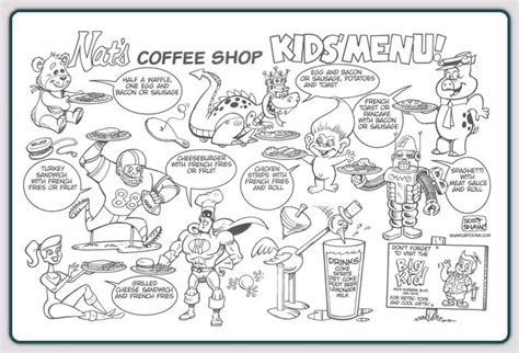free coloring pages of kids menu