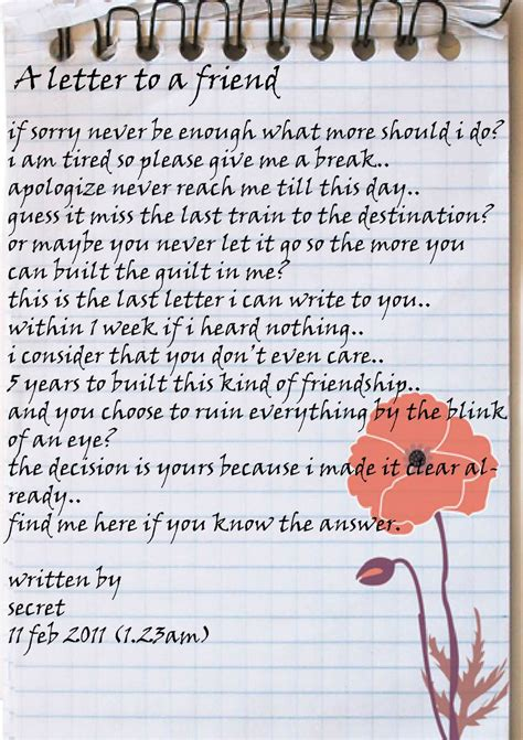 best friend letters letter to a friend new calendar template site
