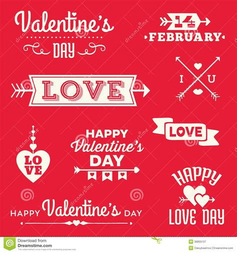 san valentin messages valentines day typographic banners and messages