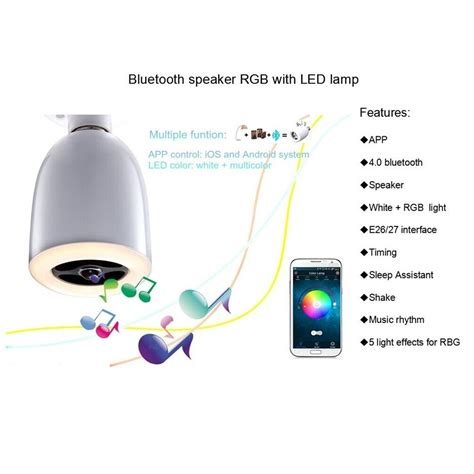 smart multicolor bulb bluetooth speaker white jakartanotebook
