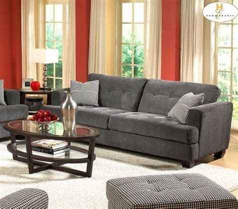 dreamfurniture 9856 sofa set gray