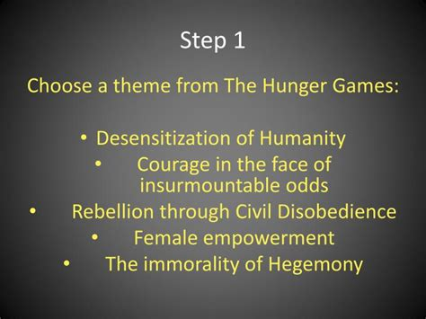 hunger games themes ppt ppt the hunger games acrostic poetry powerpoint